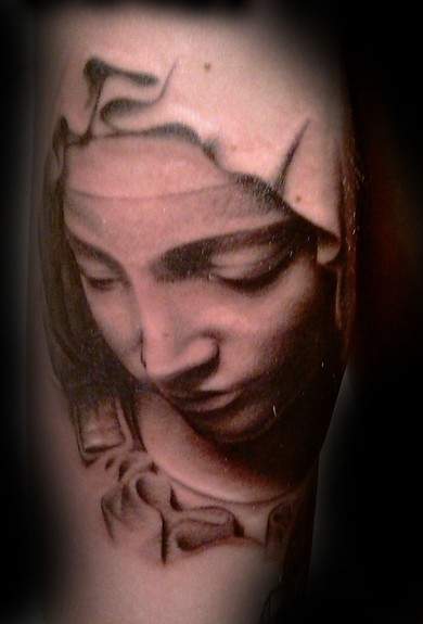 Tattoos - virgin statue - 50058