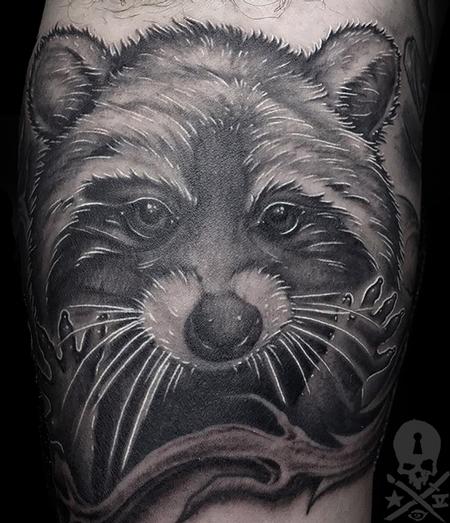 Tattoos - Racoon - 133719