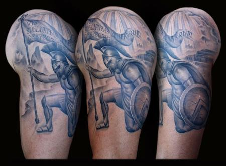 Tattoos - Spartan Sleeve - 58423