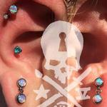 Tattoos - Double cartilage, Conch, Lobes/IS - 125588