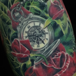 Prints-For-Sale - Pocket Watch and Rose Tattoo - 140514