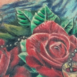 Prints-For-Sale - Color Rose and Rosary tattoo Image 4 - 140515