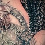 Prints-For-Sale - Black and grey Warrior Angel tattoo - 140426