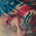 Prints-For-Sale - American Flag Chest and Shoulder Tattoo - 142749