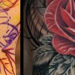 Prints-For-Sale - Snake and Roses Half Sleeve - 142808