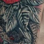 Prints-For-Sale - Snake and Roses Half Sleeve Front Image - 142805