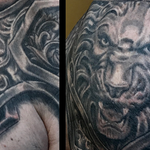 Prints-For-Sale - Black and Grey Lion Armor Tattoo Image 2 - 139124