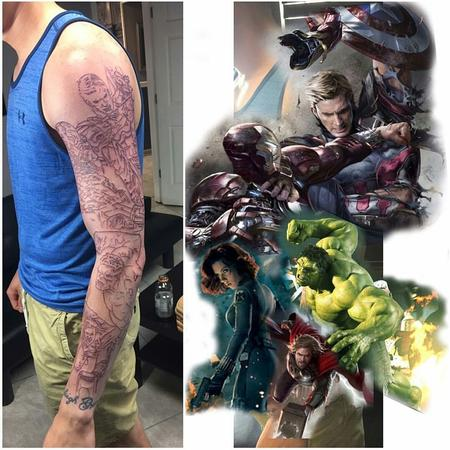 Chad Miskimon - Marvel Sleeve (WIP)