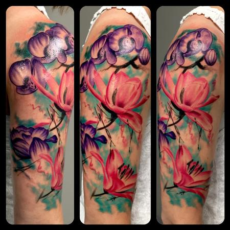 Tattoos - Watercolor Flowers - 122396