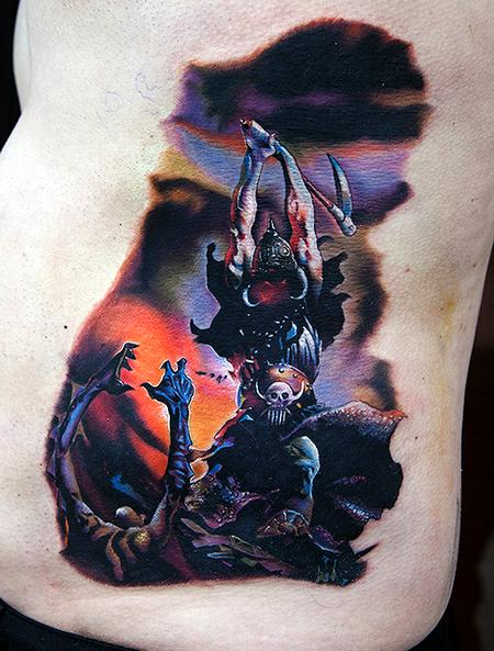Tattoos - Frank Frazetta's Death Dealer