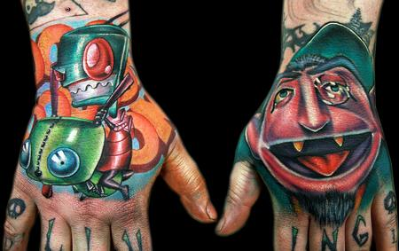 Tattoos - Zim and Count hands