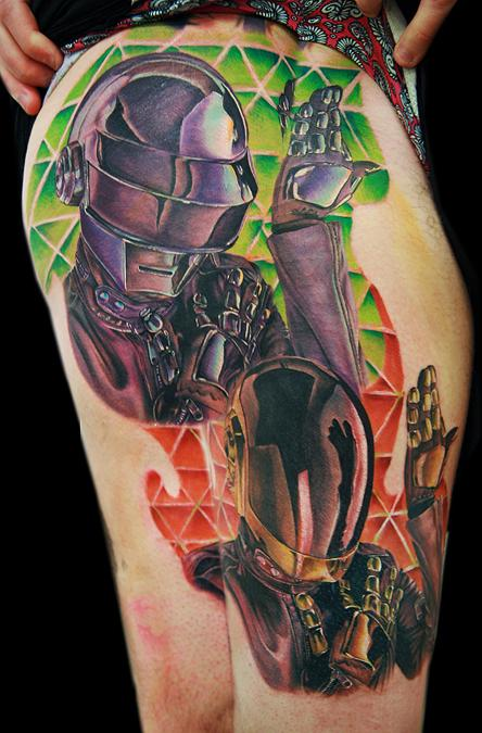Tattoos - Daft Punk Helmets Part 2
