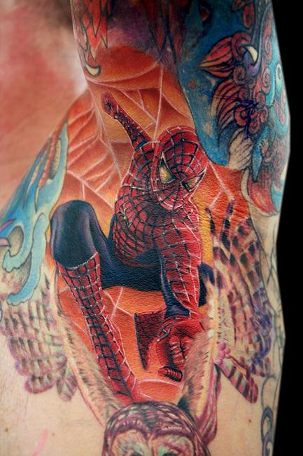 Tattoos - Spidey in a pit
