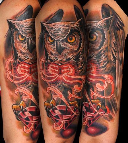 Tattoos - Owl - 123805
