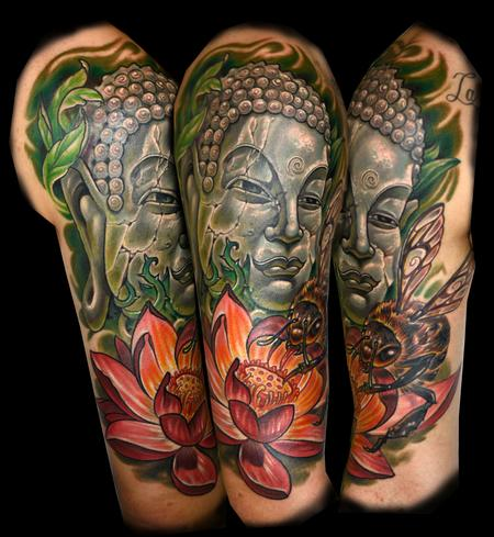 Tattoos - Bee and Statue - 124878
