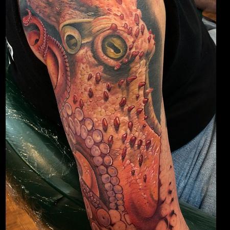 Tattoos - Octopus Tattoo in progress - 143115
