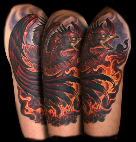 Tattoos - Fire Bird - 124889