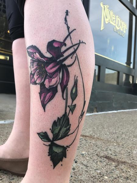 Tattoos - Healed Columbine  - 139689