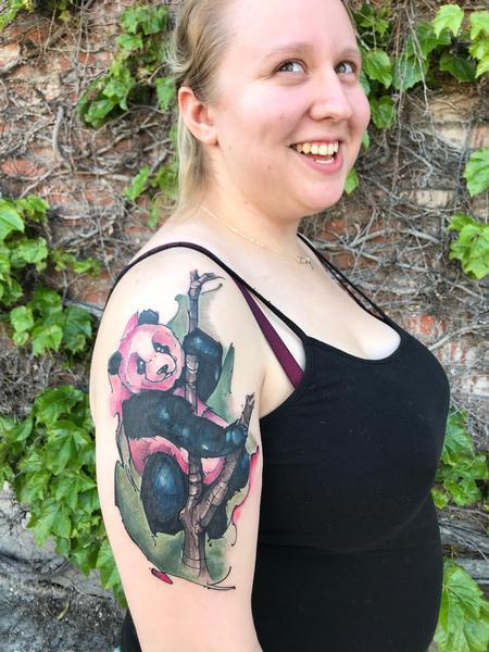 Tattoos - Happy panda  - 139692