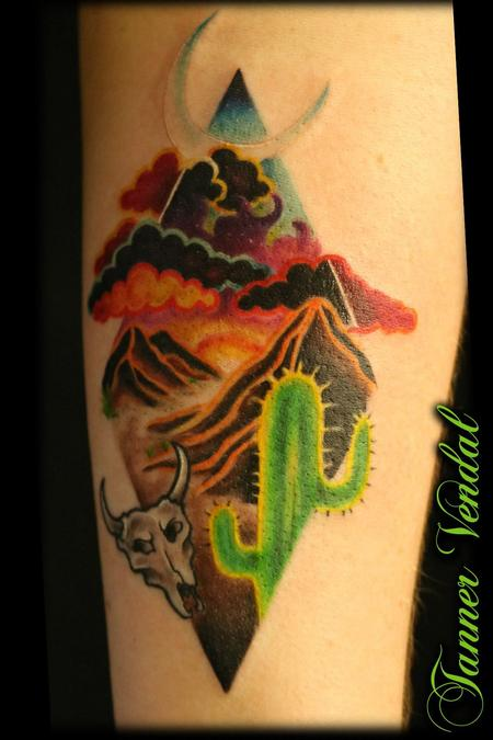 Tattoos - Texas Desert by Tanner - 132754