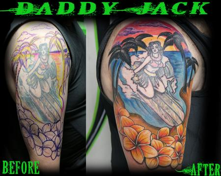 Tattoos - Hula Beach Surfer - 129476