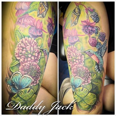 Tattoos - Spring Garden Scene - 136054
