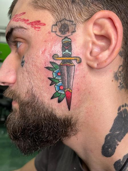 Tattoos - Traditional Dagger - 142754