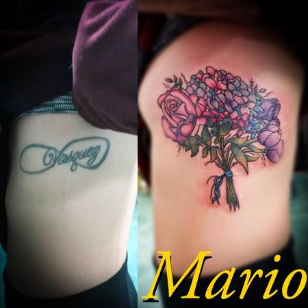 Tattoos - Bouquet Cover Up - 137245