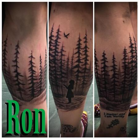 Tattoos - Girl in Forest Calf Wrap - 137250