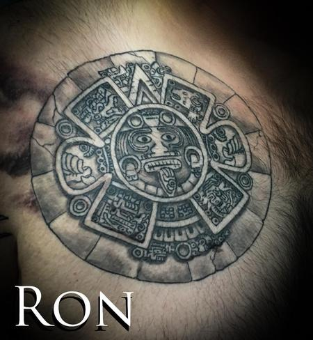 Tattoos - Aztec Calender - 137252