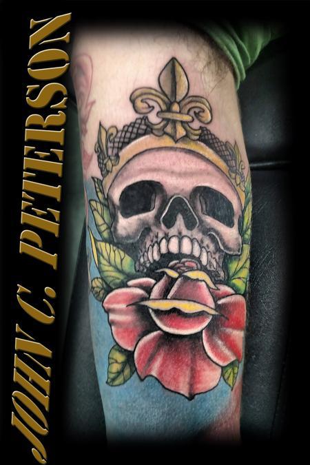 Tattoos - Wicked Skull & Rose  - 130988