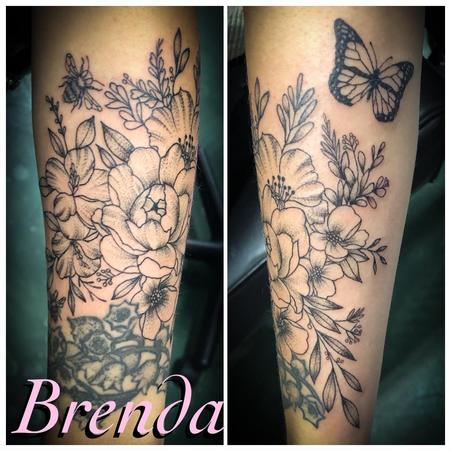 Brenda Kaye - Black and Grey Floral
