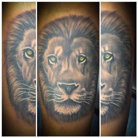 Tattoos - Lion Face - 139869