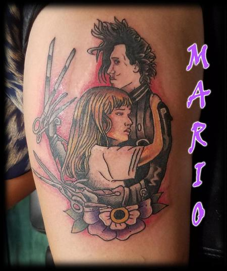 Tattoos - Edward_Scissorhands_Mario - 133471