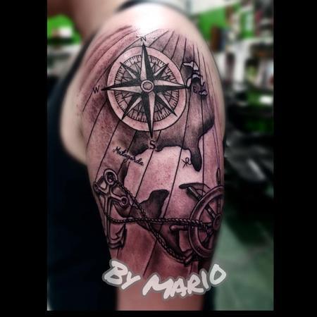 Tattoos - Compass Rose and Sailing pieces - 138520