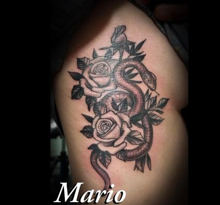 Tattoos - Snake and Roses - 139009