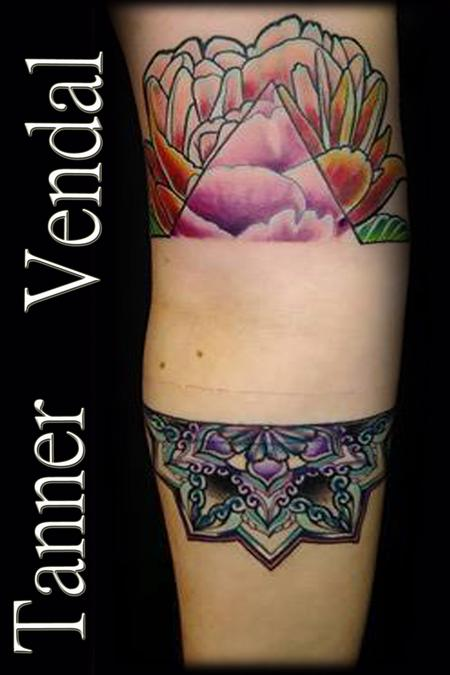 Tattoos - Custom Design Negative Arm Bar - 130997