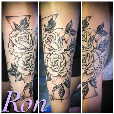 Tattoos - Black and Grey Floral - 139190
