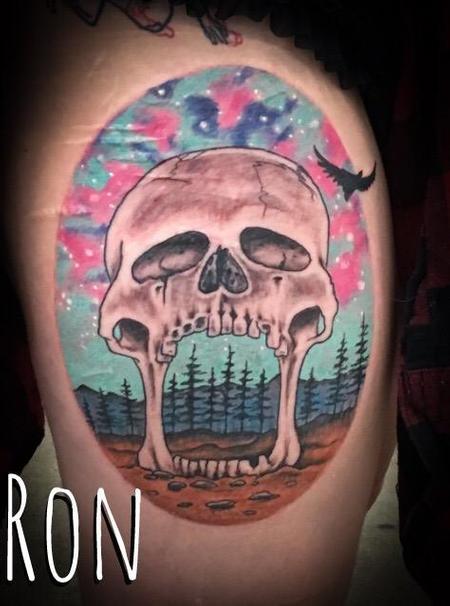 Tattoos - Skull Thigh Piece - 138531
