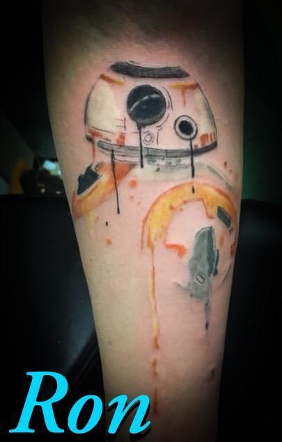 Tattoos - Watercolor BB-8 - 137799
