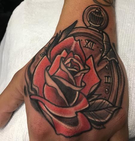 Tattoos - Rose with a stopwatch - 132691