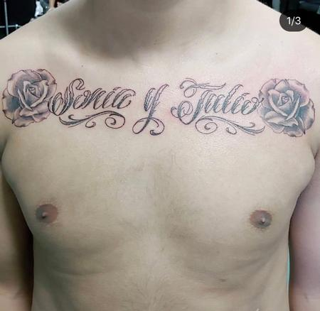 Tattoos - Names and Roses - 139445