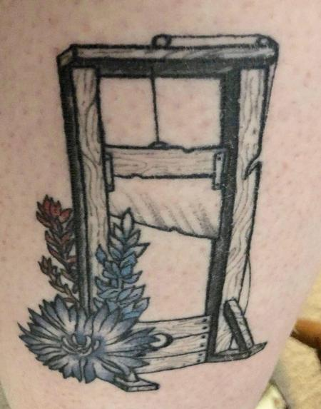 Tattoos - Guillotine w/ Flowers - 139447