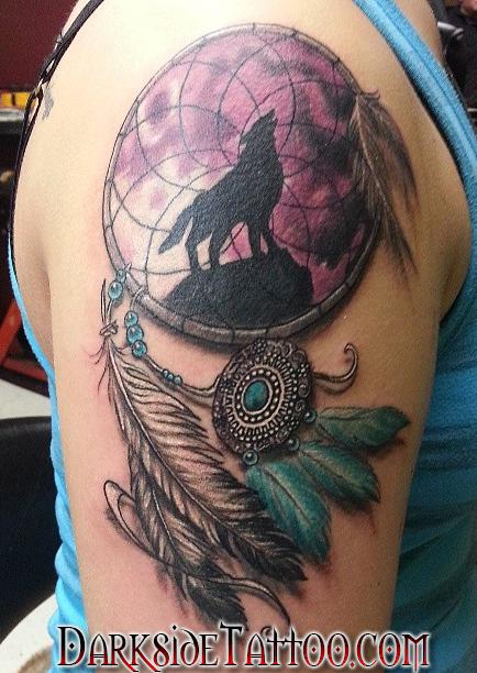 Color dreamcatcher tattoo by dave racci tattoonow dave racci color dreamcatcher tattoo gumiabroncs Image collections