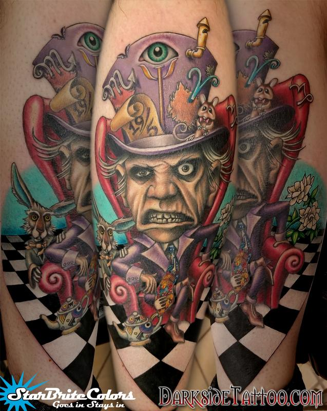 Hatter tattoos pictures mad with Alice