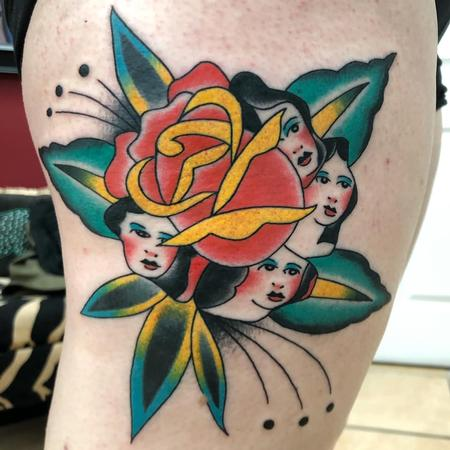 Tattoos - Traditional Rose - 142435