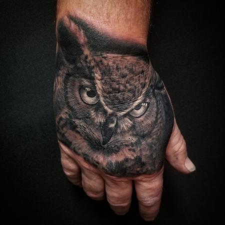 Tattoos - Horned Owl - 142432