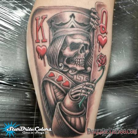 Tattoos - Black and Gray King Tattoo - 133945