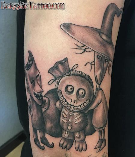 Matthew Kiley - Black and Gray Nightmare Before Christmas Tattoo
