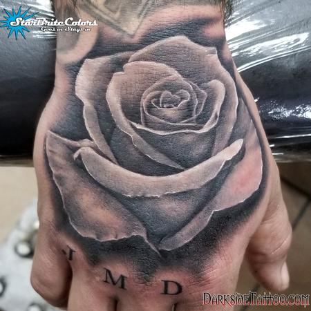 Sean O'Hara - Black and Gray Rose Tattoo